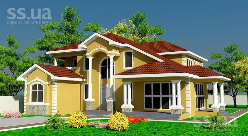 Дизайн крыши домов фото