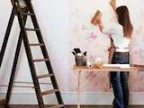 Строительные работы,  Отделочные, внутренние работы Поклейка обоев, цена 30 Грн./m2, Фото