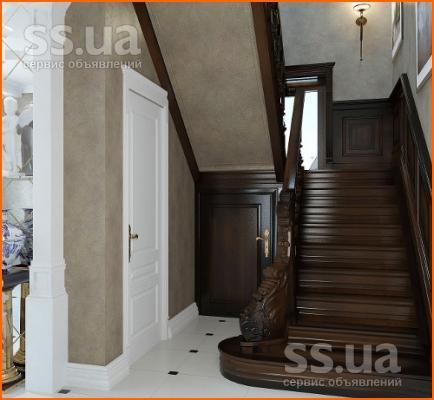 входные двери под лестницей
