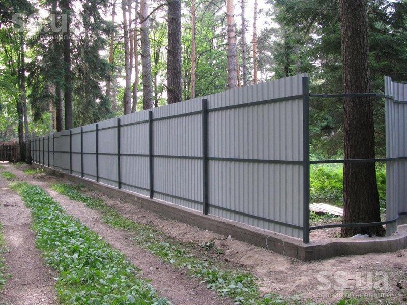 Строительство забора из профлиста самодельная фарнитура для откатных ворот