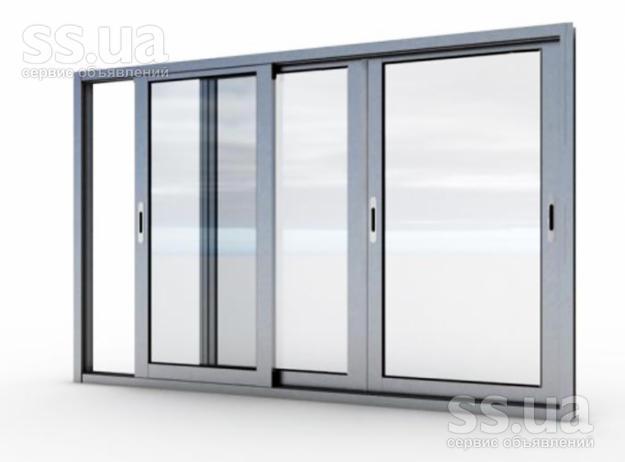 Ss.ua: алюминиевые окна, двери, раздвижные балконные, ціна 6.