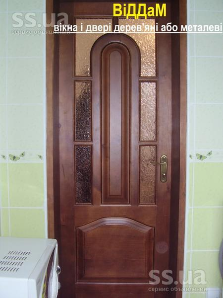 Ssua двері деревяні міжкімнатні та вхідні з масиву ціна 4000